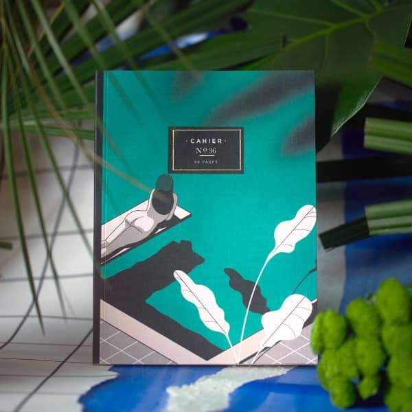 cahier notebooks maison Fondée la piscine