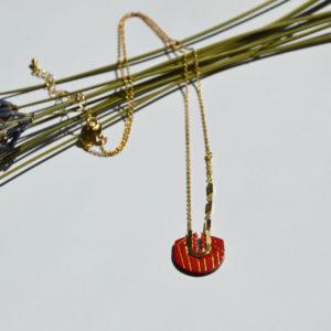 Collier Vladimir Rouge Peau de Fleur