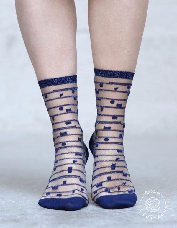 Atelier-St-Eustache-Chaussettes-Transparentes-Femme-5thAvenue-Blue-Madame Blabla