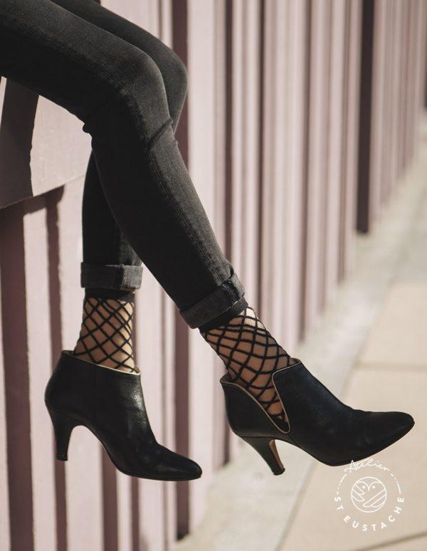 Atelier-St-Eustache-Chaussettes-Transparentes-Femme-BrooklynBridge-Black-Madame Blabla 1