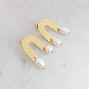 Boucles d'oreilles Iris Nacre Marie Duvert