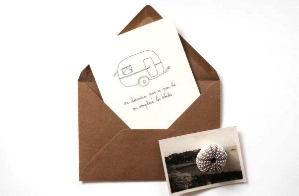 Caravane papeterie Carte Postale Papillonnage