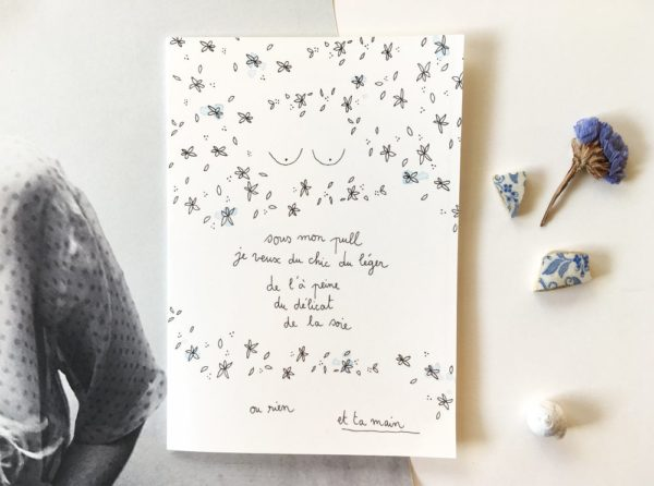 EtTaMain Romantique Carte postale à Message