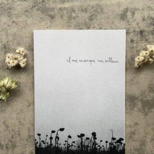 Ailleurs papeterie Noir et blanc Dessin Papillonnage