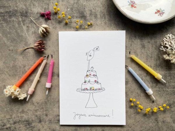Joyeux anniversaire carte Postale Papeterie Originale à Offrir Papillonnage Nouveauté
