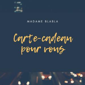 carte cadeau Madame Blabla recto